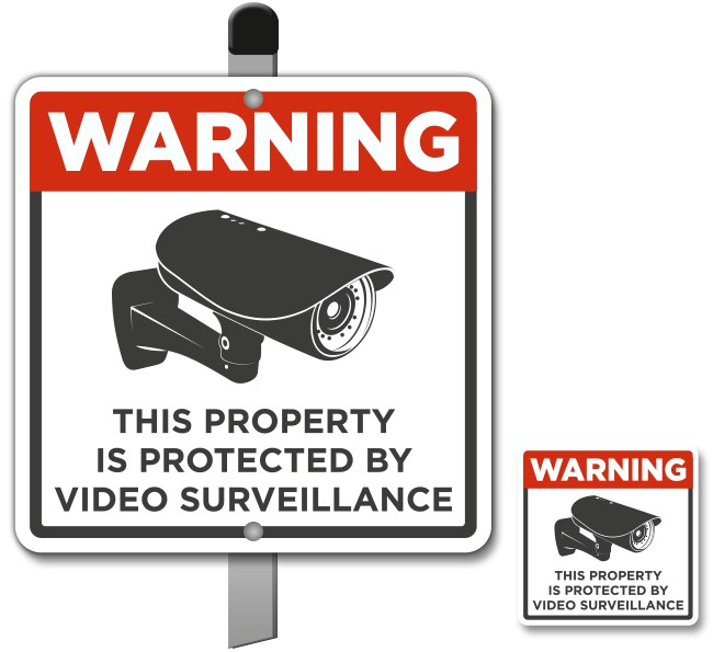 this property under video surveillance sign - 600×549